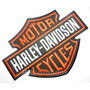 Mot014 Harley Davidson Moto Custom Tag Patch Bordado 30x23cm