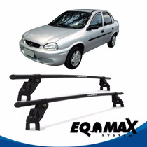 Rack Teto Eqmax Aço Corsa Classic 4 Pts 94/02 Fixação Porta