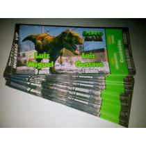 Convites Aniversário Tipo Ingresso Dinossauro - 50 Unidades