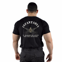 Camiseta Estampada Infantaria Militar Original Loja Oficial