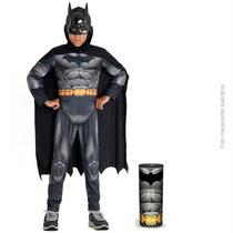 Fantasia Infantil Batman Premium C/ Peitoral Luxo