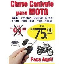 Chave Canivete Para Motos Honda E Yamaha Chave Para Moto