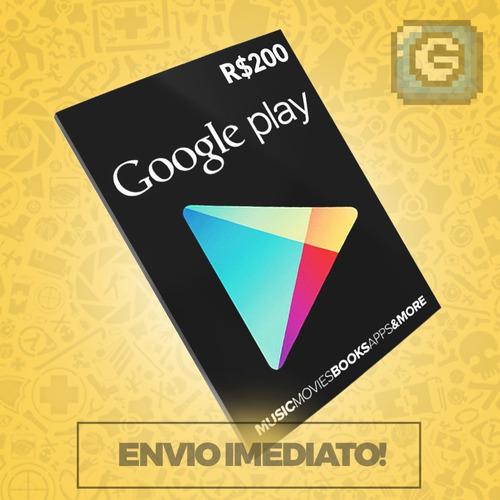 Cartão Google Play Gift Reais ( + ) Br Android