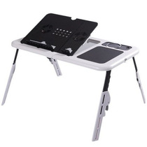 Mesa P/ Notebook E-table Portátil Dobrável Regulável Cooler