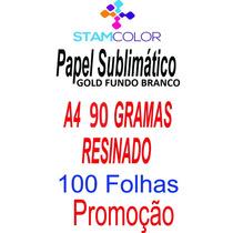 Papel Sublimatico Gold A4 90 Gramas, Pacote 100 Folhas C6