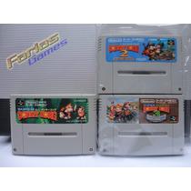 Cartuchos Super Nintendo Donkey Kong Originais 1 2 E 3