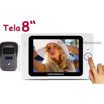 Vídeo Porteiro Eletrônico Colorido Tela 8 Visão Noturn Grava