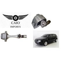 Kit Calço Coxim Hidráulico Motor E Cambio Audi A3 Golf 99-08