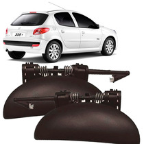 Par Maçaneta Externa Porta Dianteira Peugeot 206/207