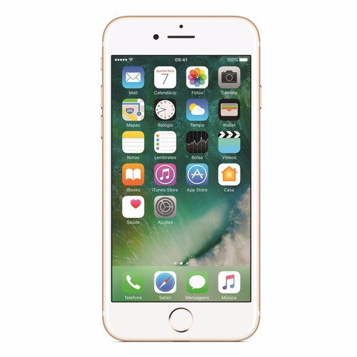 Iphone 7 32gb, Tela Retina Hd De 4,7 3d Touch Dourado