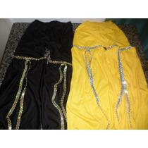 Calça Dança Do Ventre/infantil Amarelo-preto