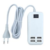 Hub Usb 4 Portas Extensão Elétrica 15w Carregador 5v Tomada
