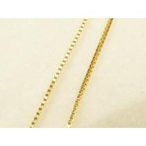 Corrente Cordão Colar Ouro 18k Maciço Veneziana 50cm 1.3gr