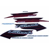 Kit Adesivos Honda Xr 250 Tornado 2003 Vermelha