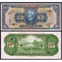 Rc0802 R141m 100 Mil Réis 1924 Tesouro Nacional Modelo Rara