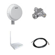 Kit Antena Aquário 12dbi +rádio Wr2500 1000mw +conector+cabo