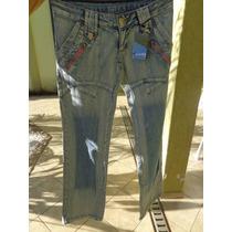 Calça Jeans Feminina, Calça Jeans Com Zíper.