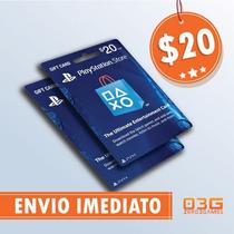 Playstation Network Card 20 Cartão Psn P/ Compras Na Store