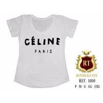 T-shirts Camisetas Personalizadas, Femininas Celine Paris