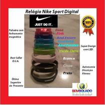 Lote Relógio Pulseira Nike Digital Original Led Fit Atacado