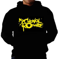 Blusa Moletom Mychemical Romance Capuz Bolso Rock Punk Metal