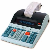 Calculadora De Mesa Logos 804b -14 Dígitos, C/ Bobina,visor