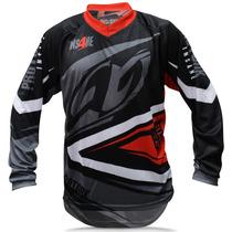 Blusa Motocross Pro Tork Insane 4 Cinza Vermelho Trilha