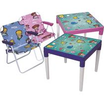 Mesinha Infantil Com Cadeira Mesa Infantil De Brincar Mor