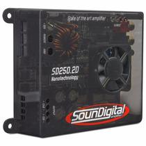 Modulo Som Potencia Soundigital Sd250.2 Amplificador Carro