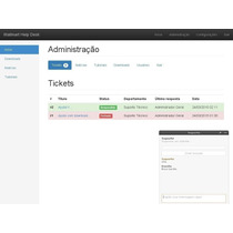 Site, Sistema De Ticket De Chamados E Chat Online