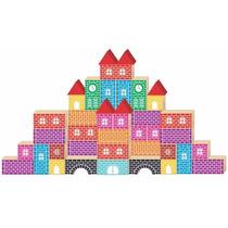 Brinquedo Construtor Abc Alfabeto 60 Peças Mdf