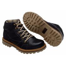 Bota Botina Sapato Calçado Masculino Coturno Couro Legítimo