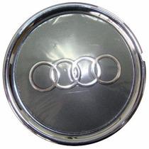 Calota P/ Centro De Roda Audi A3 Cromada! C/ Emblema! Nova!