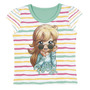 Blusa Camiseta Infantil Meia Malha Polly Tam 04 - Lecimar