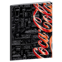 Caderno Brochura 1/4 96 Folhas Capa Dura Jandaia - Coca Cola