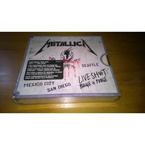 Box Metallica Live Shit Binge & Purge 3 Cds & 2 Dvds U.s.a