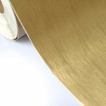 Adesivo Vinil Aço Escovado Ouro Decorativo 1,00m X 1,00m