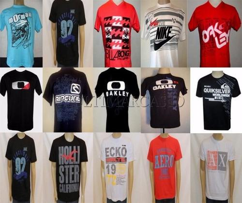 Kit C  5 Camisetas Camisas Atacado Varias Marcas Revenda !! 1ec281bb234ba