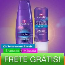 Kit Aussie - Shampoo 400ml + 3 Minute Miracle 236ml + Frete