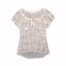 Camiseta Camisa Blusa Renda Abercrombie & Fitch Original