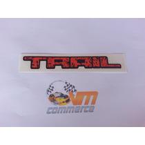 Emblema Adesivo Trail Pequeno Laranja Fiesta Pequeno