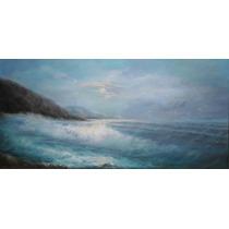 Pintura A Óleo Sobre Tela - Mar Do Amanhecer