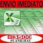 Tabelas Excel 6200 Planilhas Editáveis Via E-mail Promoção