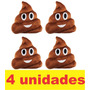 Almofada Emoji Emoticon Whatsapp Cocozinho Coco - 4 Unidades