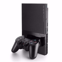 Video Game Sony Playstation 2 Slim Preto Desbloqueado Novo!
