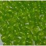 Miçangão Plástico 6x9mm Verde Claro Transparente- 500 Gramas