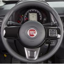 Capa P Volante Fiat Mobi Couro Ecológico Costurado Vermelho