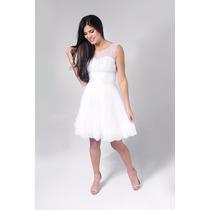 Vestido De Noiva Curto Para Civil , Debutante Pronta Entrega