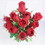 Buquê C/ 11 Botões De Rosa Vermelho 46 Cm (36051009)
