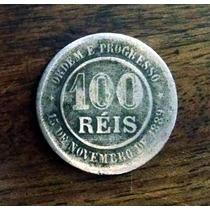 100 Réis Rev. Inclinado 1893